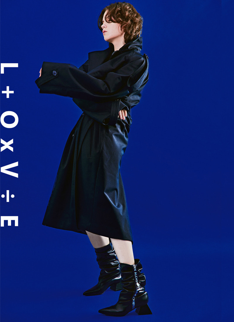 L+OxV÷E PLEATED BOOTS_BK